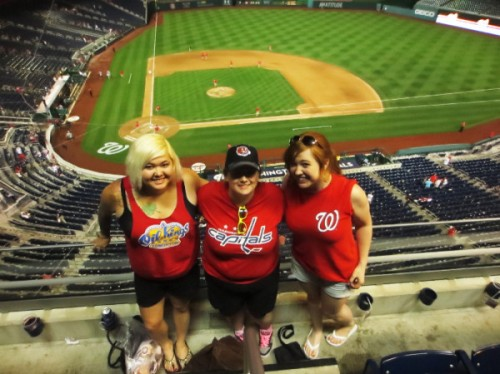 With the ladies at Nats Park in D.C